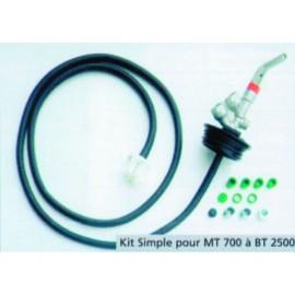 Verbindungsset für verstärkte Polyethylentreibstofftanks