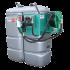 Doppelwandige Tankstation aus HDPE geruchlos 1000 L mit Aufwickler - Modell Komfort +
