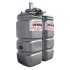 Doppelwandige Tankstation aus HDPE geruchlos 750 L mit Kraftstoffpumpe 12 V