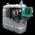 Doppelwandige Tankstation aus HDPE geruchlos 750 L mit Sicherheitsschrank Modell Komfort Plus
