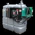 Doppelwandige Tankstation aus HDPE geruchlos 1 000 L mit Sicherheitsschrank - Modell Komfort +