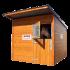 Beiser Environnement - Box à chevaux en bardage bois - Face avec cheval