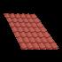 Beiser Environnement - Tôle tuile terra cotta, 5,5 m