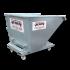 Beiser Environnement - Benne basculante galva articulée sur roulettes 600 litres - Vue de face