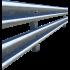 Gebäudeschutzplanken pro laufendem Meter - Satz von 2 runde Planken