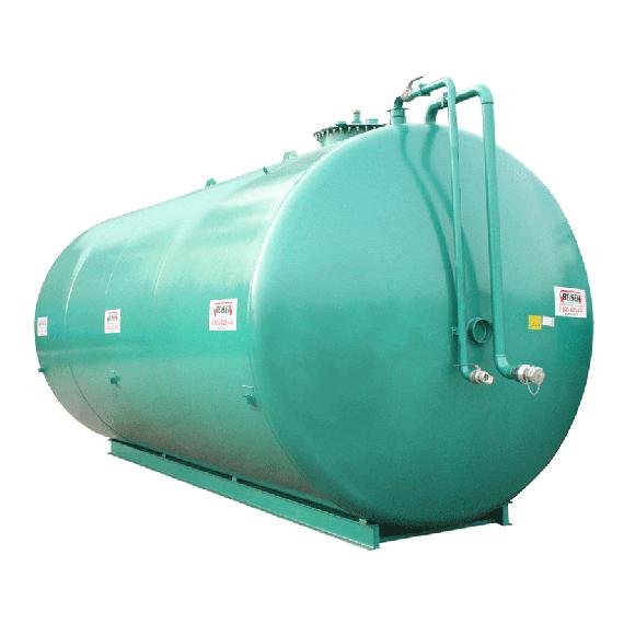 Doppelwandige Stickstoffanlage aus Stahl NN, 60 000 l Ø 2500 ohne Pumpe