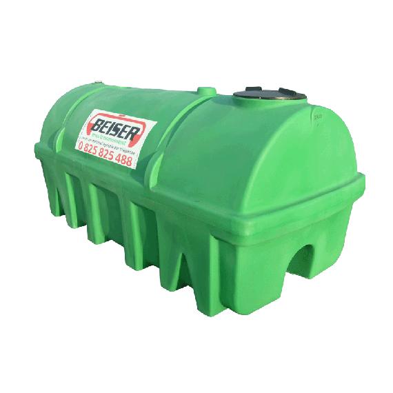 Grüner PEHD-Tank 3500 l, Dichte 1300 kg/m3 (EP)