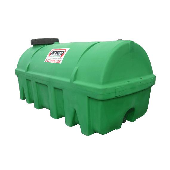 Grüner PEHD-Tank 7500 l, Dichte 1300 kg/m3 (EP)