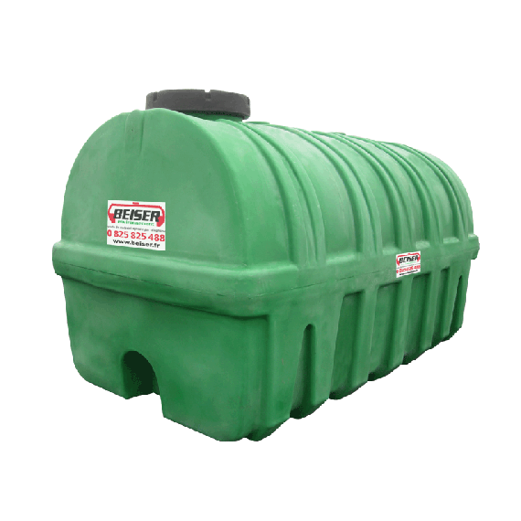 Grüner PEHD-Tank 15 000 l, Dichte 1300 kg/m3 (EP)