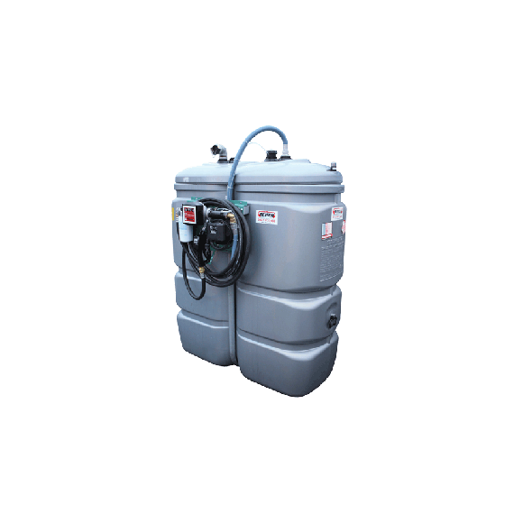 Doppelwandige Tankstation aus HDPE geruchlos 750 L - Modell Komfort
