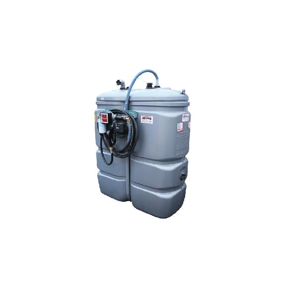 Doppelwandige Tankstation aus HDPE geruchlos 1 000 L - Modell Komfort