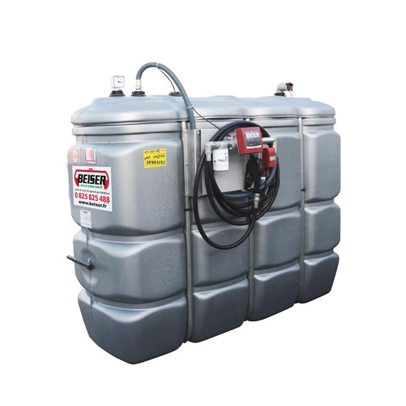 Doppelwandige Tankstation aus HDPE geruchlos 2 000 L - Modell Komfort