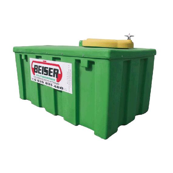Verstärkter Altöl-Sammeltank aus PEHD, 500 Liter