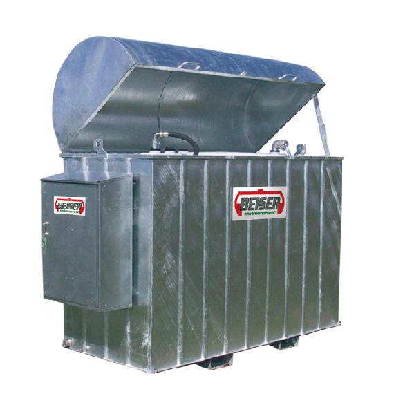 Platzsparende industrielle verzinkte Tankanlage 2000 Liter