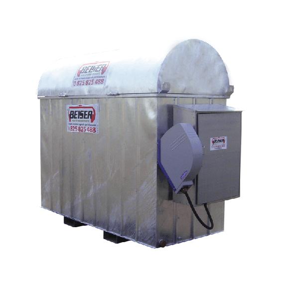 Verzinkte industrielle platzsparende 2000 l-Tankanlage mit Aufwickler für 8 m Schlauch