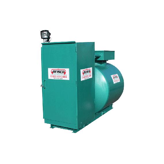 Doppelwandige 1500 L Diesel-Tankanlage aus Stahl, Neuste Norm 2. Generation