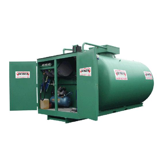 Doppelwandige 3000 L Diesel-Tankanlage aus Stahl, Neuste Norm 3. Generation