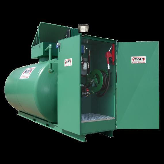 Doppelwandige 4000 L Diesel-Tankanlage aus Stahl, Neuste Norm 2. Generation