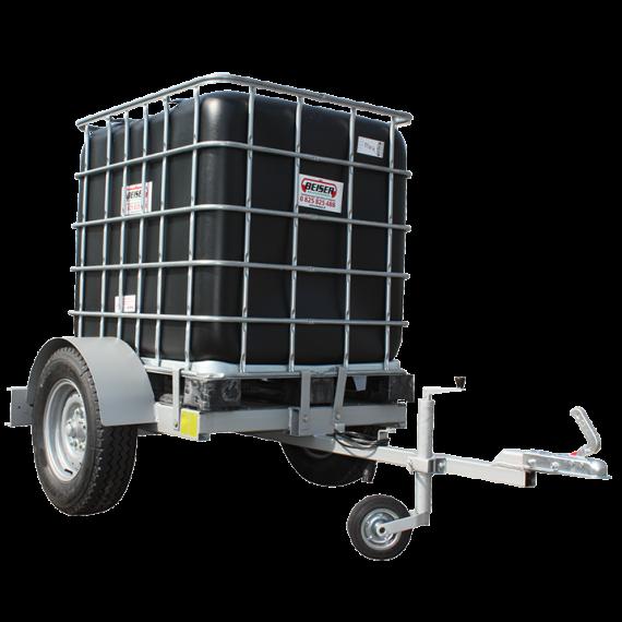 QUADRATISCHER PVC-Tank auf Fahrgestell, Fassungsvermögen 1000 Liter