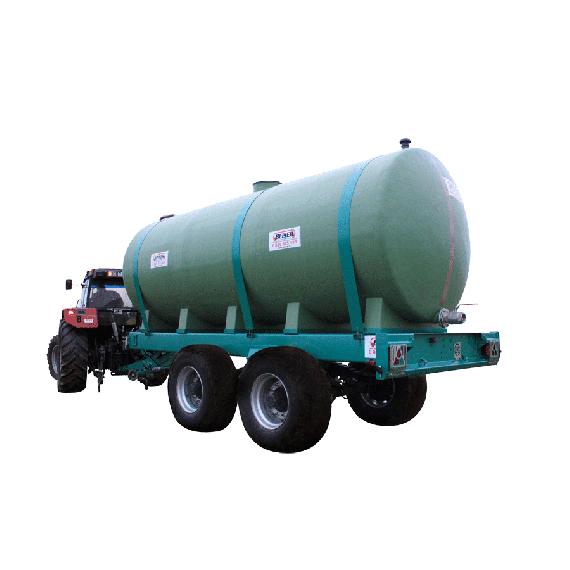 Polyestertank auf Fahrgestell, Fassungsvermögen 15000 Liter
