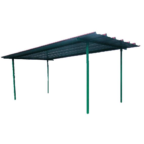 Dach für industrielle Diesel-Treibstoff-Tankanlage 2000 Liter
