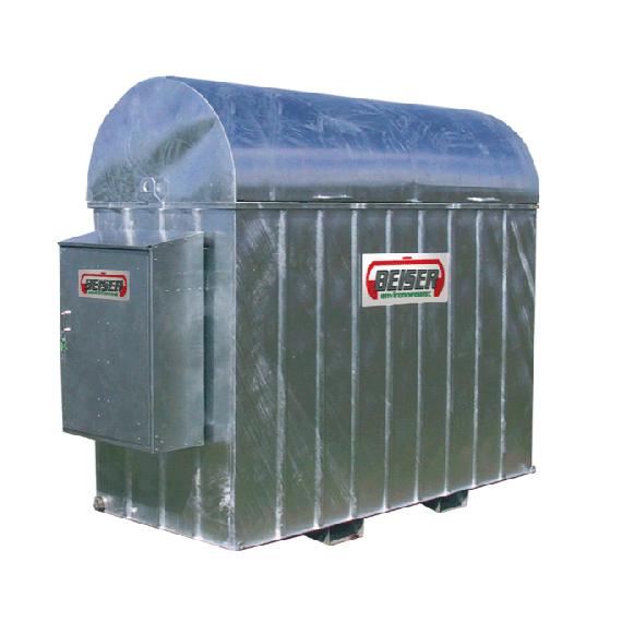 Verzinkte Auffangwanne für 1000 l-Treib-/Brennstofftank aus PEHD mit Schrank