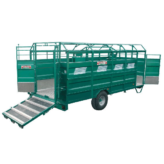 STAHL-Viehtransporter mit Aluminiumboden, Länge 4,50 m, keine Optionen