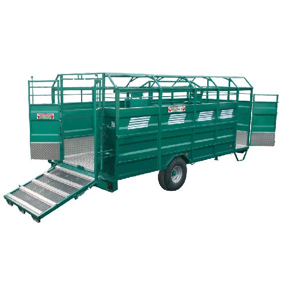 STAHL-Viehtransporter mit Aluminiumboden, Länge 5,50 m, keine Optionen