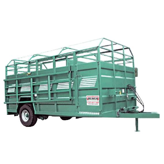 Viehtransporter mit Bodenabsenkung aus Aluminium, komplett, 4,50 m