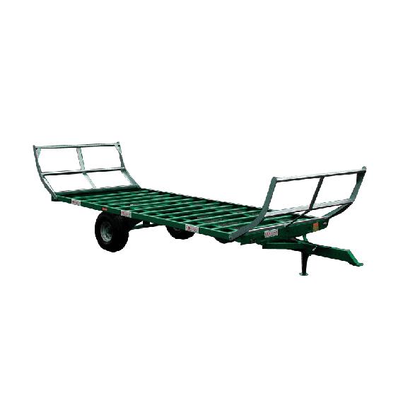 Aufsattelanhänger mit Pendelachse 8 m – 4 Räder