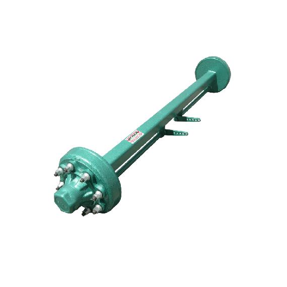 Viereck Achse 60 mm, 6 Löcher