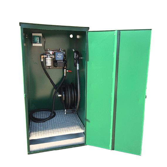 Wandschrank mit Pumpe 100 l/min und Aufwickler
